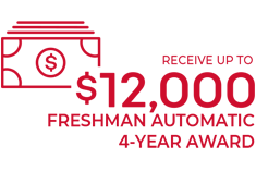 Recieve up to $12,000 - New Freshman 4-year award